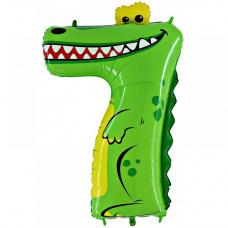 "Шар цифра 7 ""Крокодил"""