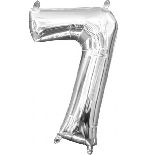 Шар цифра 7 серебро