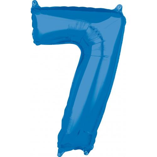 Шар цифра 7 синяя