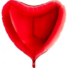 Большое сердце красное
