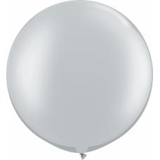 Большой шар серебро