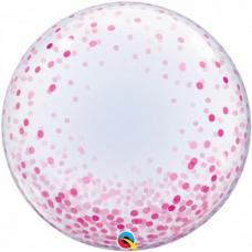Шар баблс розовое конфетти