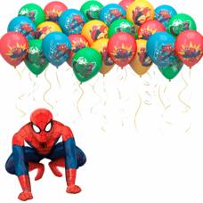 Набор из шаров под потолок и человека паука