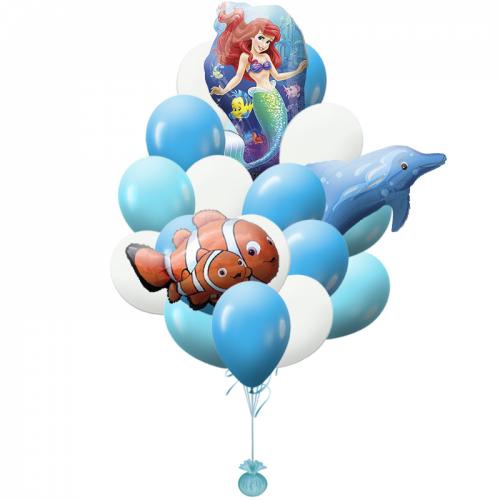Букет из шаров русалочка