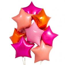 Букет из шаров розовые звезды