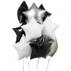 Букет из шаров Матовое серебро