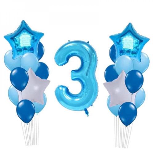 Сет из шаров синяя цифра