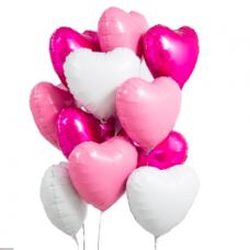 Букет из шаров сердца нежность