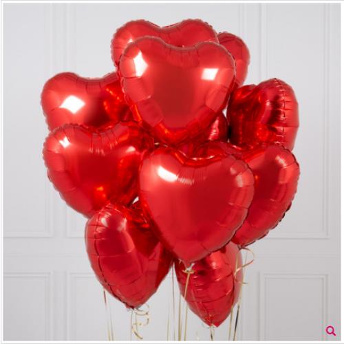 Букет из шаров красные сердца