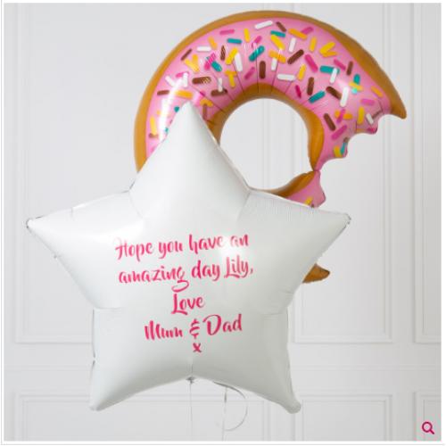 Пончик и звезда с вашим текстом