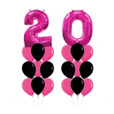 Букет из шаров 20 лет