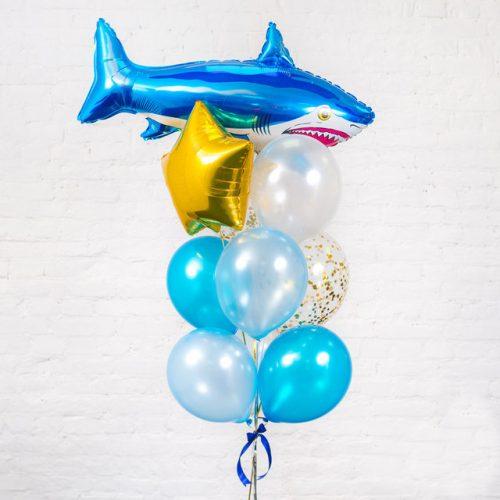 Букет из шаров Акула