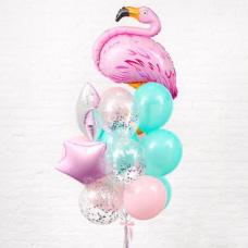 Букет из шаров Розовый фламинго