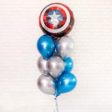 Букет из шаров Щит капитана Америки