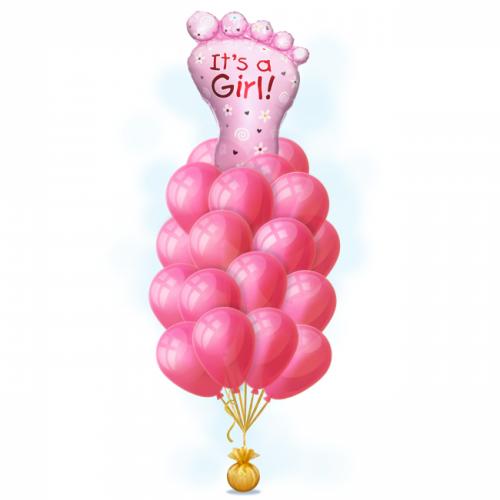 Букет из шаров Пяточка для девочки