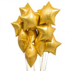 Букет из золотых звезд