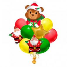 Букет из шаров Новогодний Мишка