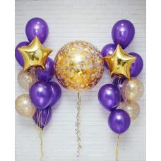 Сет из шаров фиолетовый