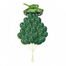 Букет из шаров танк Т - 34