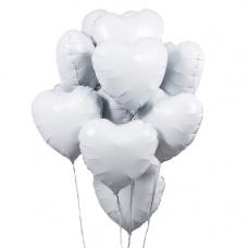 Букет из шаров сердца белые