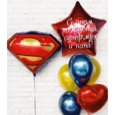 Сет из шаров для супермена