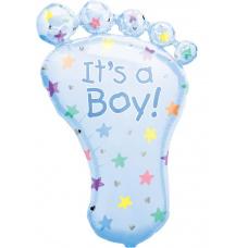 Фольгированный шар Пяточка ребенка Boy