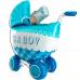 Фольгированный шар 3D Коляска голубая