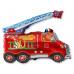 Фольгированный шар Пожарная машина со зверятами