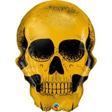 Фольгированный шар Череп золотой