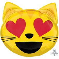 Фольгированный шар Кот влюбленный