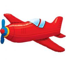 Фольгированный шар красный самолет