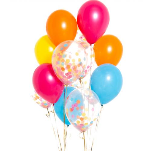 Воздушные шары с конфетти яркие