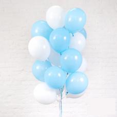 Облако из белых и голубых шаров