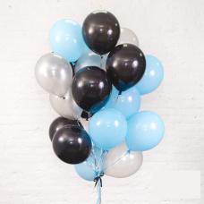 Облако из голубых и черных шариков