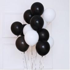 Облако из черных и белых шаров
