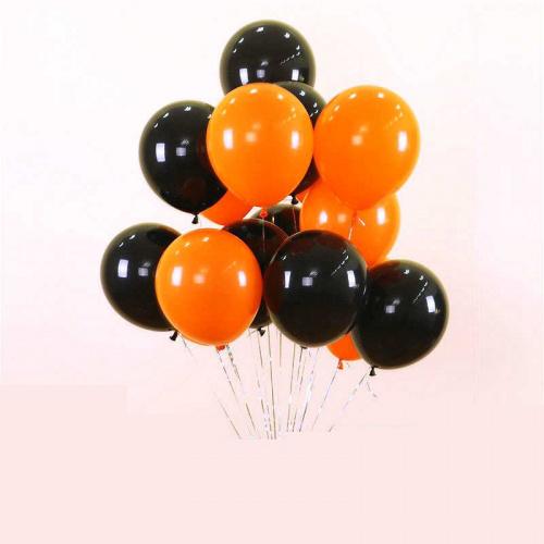 Облако из черных и оранжевых шаров