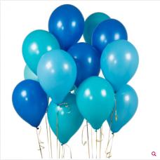 Облако из шаров оттенки синего