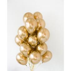 Облако из шаров хром золото