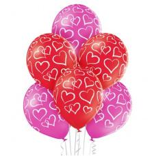 Гелиевый шарик Сердца