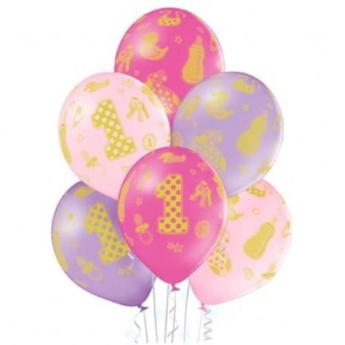 Воздушный шар годик девочке