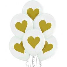 Гелиевый шар золотое сердечко