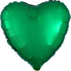 Шар сердце Зеленое