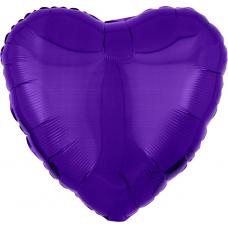 Шар сердце Фиолетовое