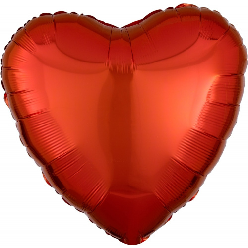 Шар сердце Оранжевое