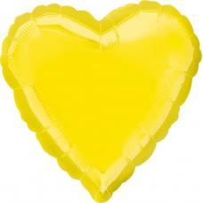 Шар сердце Желтое
