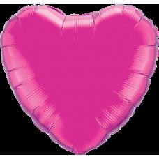 Шар сердце фуксия
