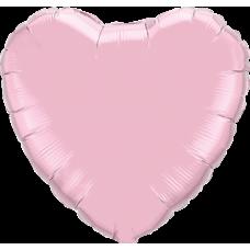 Шар сердце нежно розовое
