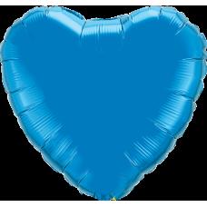 Шар сердце Синие