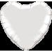 Шар сердце Серебро