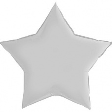 Шар звезда белая 91 см